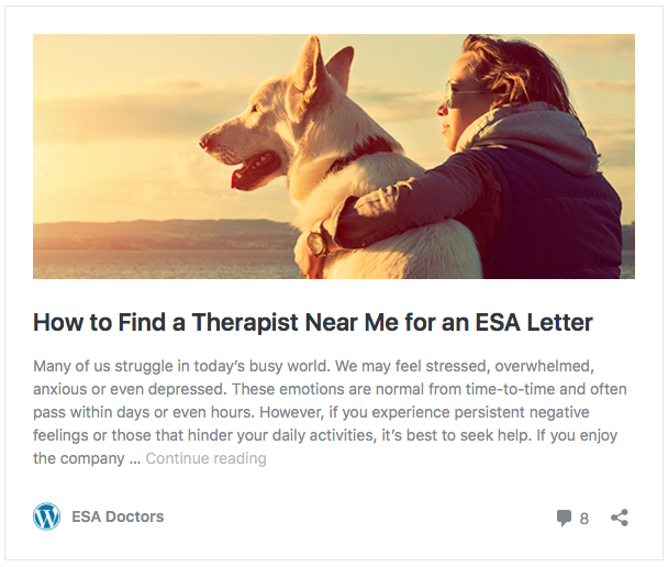 how to find a therapist for an ESA letter