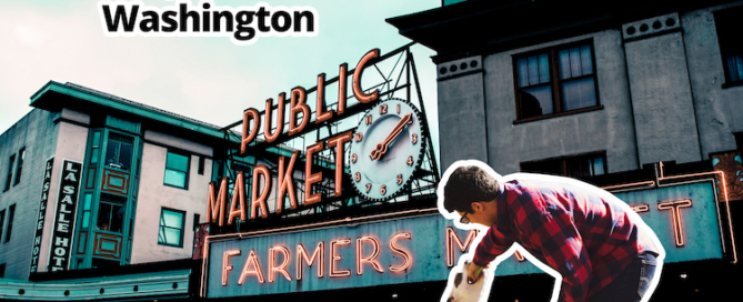 ESA Letter in Washington from ESA Doctors Banner - Image Seattle Public Market with Dog